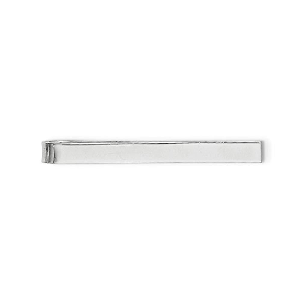 Brilliant Bijou Solid .925 Sterling Silver Tie Bar 46 mm