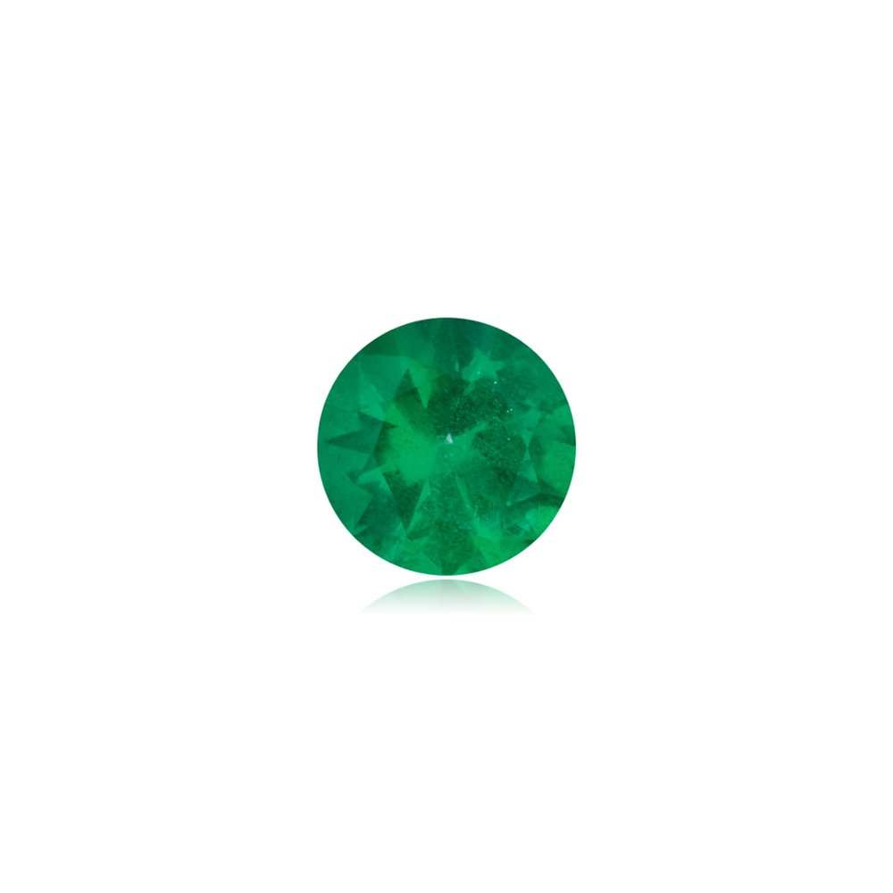 0.31-0.55 Cts of 5x5 mm AA Round Natural Emerald ( 1 pc ) Loose Gemstone