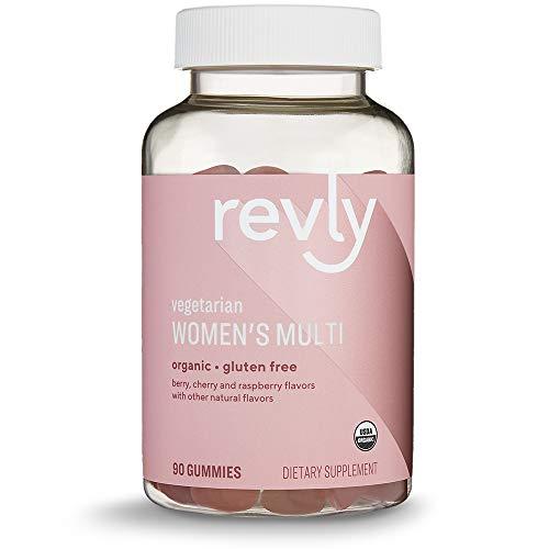 Amazon Brand - Revly Womens Multivitamins, 90 Gummies (3 Gummies per Serving), Vegetarian, Certified Organic, Gluten free