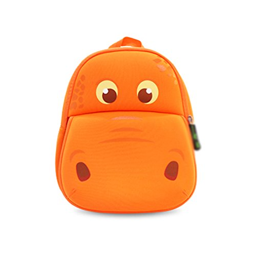 Nohoo Kids Hippo Backpack 3D Cute Zoo Cartoon School Toddler Sidekick Boys Girls Bags Tyrannosaurus schoolbag