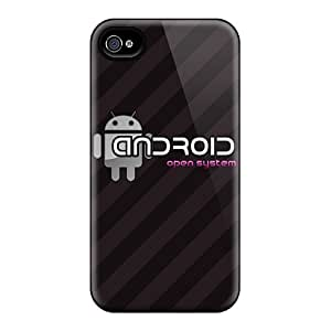 Premium Durable Brown Droid Fashion Tpu Iphone 4/4s Protective Case Cover
