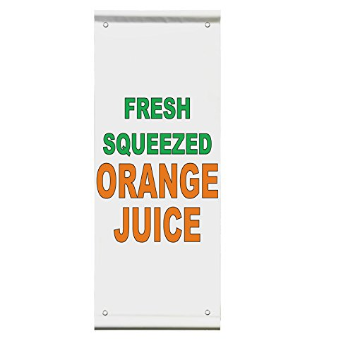 Fresh Squeezed Orange Juice Green Orange Bar Double Sided...