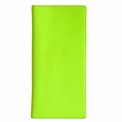 Royce Leather Passport Ticket Holder, Key Lime Green, One Size