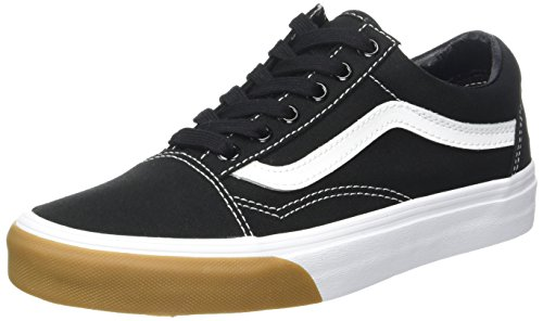 Gum Black (Vans Unisex Adults' Old Skool Canvas Trainers, Black (Gum Bumper/Black/True White), 8.5 UK 42.5 EU)