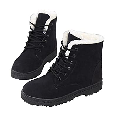 Amazon.com | Mostrin Winter Women's Lace Up Snow Boots