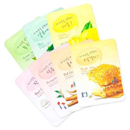 Etude House Natural Pure Skin Care Facial Mask Sheet x 7pcs