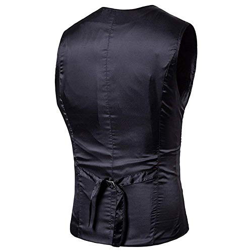 Slim Breasted Formel Décontracté Schwarz Gilet Coupe Mariage Fit Casual 3 Fumer Hommes Avec xqwwY8a