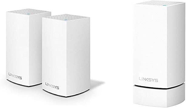 Linksys Velop Dual-Band Whole Home WiFi Intelligent Mesh System 2-Pack,Speed,Works with Alexa /& Whole Home Wi-Fi Mesh Wall Mount white Works with All Velop Models
