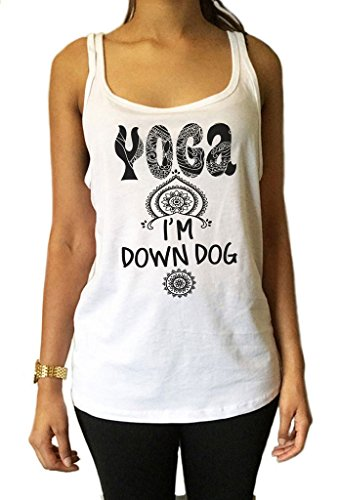 Irony Jersey-Spitze 'Yoga, IM Unten Hund' Meditation Yoga Frieden Om Zen Boho Print JTK1250