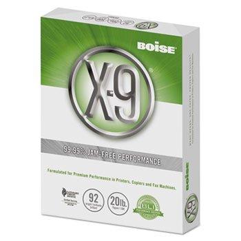 "Boise X-9 Multipurpose Paper, 92 Bright, 8 1/2"" x 11"" Letter Size, 20 lb, 500 Sheets Ream"