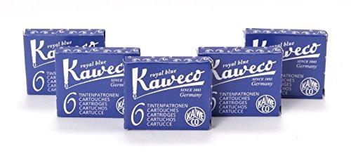 Kaweco Fountain Pen 30 ink cartridges short royal blue