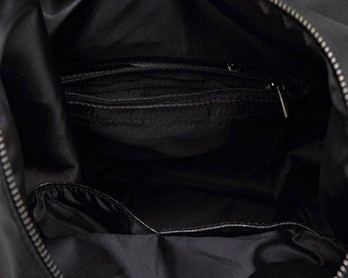 Eysee - Bolso mochila  para mujer negro blanco 23cm*31cm*11cm negro
