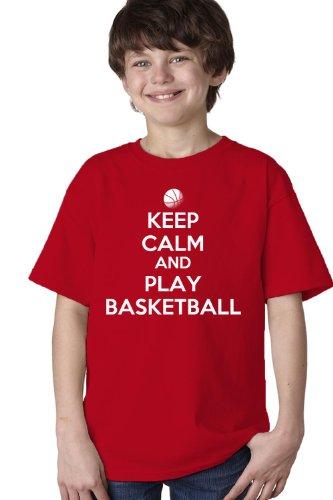 KEEP CALM AND PLAY BASKETBALL Youth T-shirt / Baller Hoops Player Tee