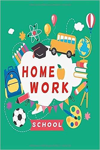 Notizbuch Homework School: Hausaufgabenheft 120 karierte