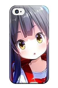New Design Shatterproof QUzwZnY12422PunSZ Case For Iphone 4/4s (anime Brunette Girl)