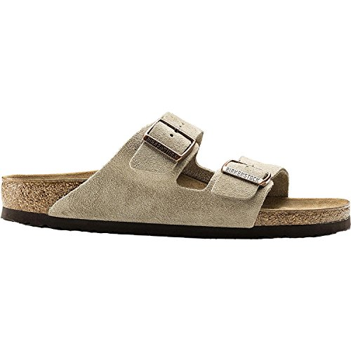 Birkenstock Unisex Arizona Taupe Suede Sandals - 44 M EU/11-11.5 B(M) US Men ()