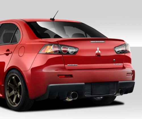 Duraflex ED-LZV-480 Evo X V2 Rear Bumper Cover - 1 Piece Body Kit - Compatible For Mitsubishi Lancer 2008-2017