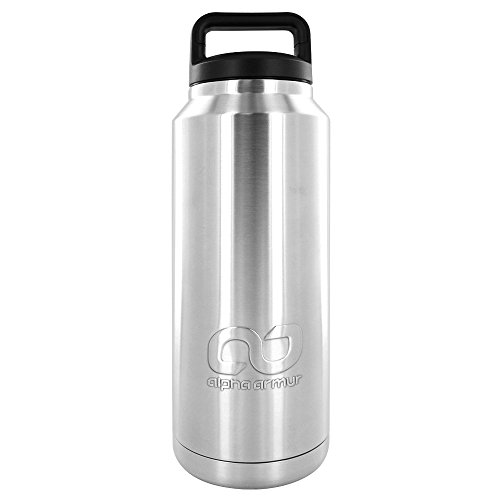 Alpha Armur 20/30/36 Oz Tumbler Double Wall Vacuum Insulated Stainless Steel Tumbler /Hydro Travel Mug Stainless Steel Water Bottle 12 Oz Stainless Steel Can Insulator Can Cooler