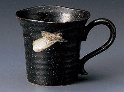 SAZANAMI-BLACK 3.7inches Set of 5 Mugs Japanese Original Porcelain