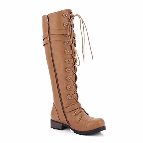 in head Europe boots with winter boots and square high Brown Autumn qw8xHCH