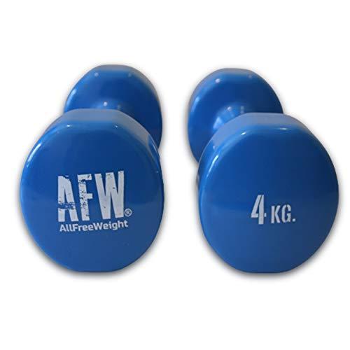 Vinyl halters (1-5 kg). Halfronde rubberen halters voor Pilates. Anti-slip gewichten voor thuis fitness. Thuis sporten…