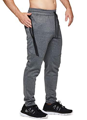 RBX Active Men's Workout Zipper Gym Joggers Combo Charcoal 18 L