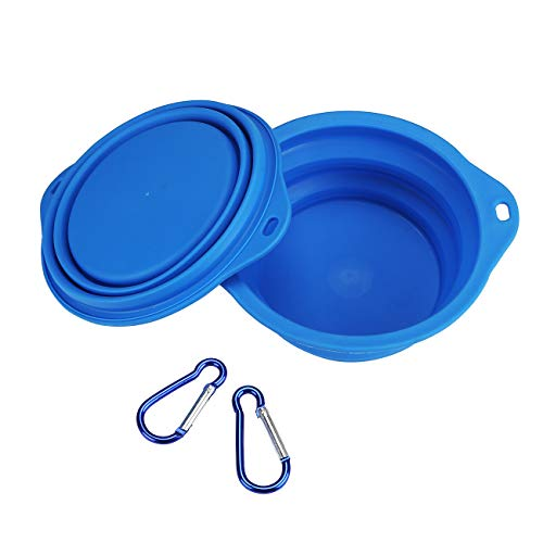 Qiuki XL Collapsible Dog Bowls - 2 Pack - Extra Large 30oz, 7.7