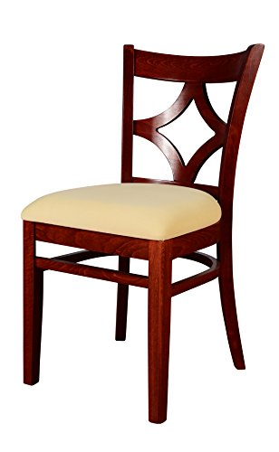 Beechwood Mountain BSD-23S-M Solid Beech Wood Side Chairs in Mahogany for Kitchen and dining, set of 2