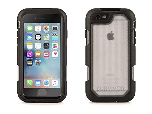 Griffin Survivor Summit Carrying Case for iPhone 6/6s - Clear/Black