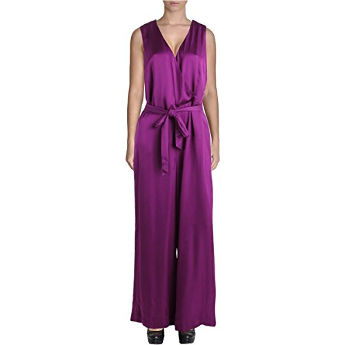 Lauren Ralph Lauren Womens Charmeuse Surplice Jumpsuit Purple 14 - Charmeuse Jumpsuit