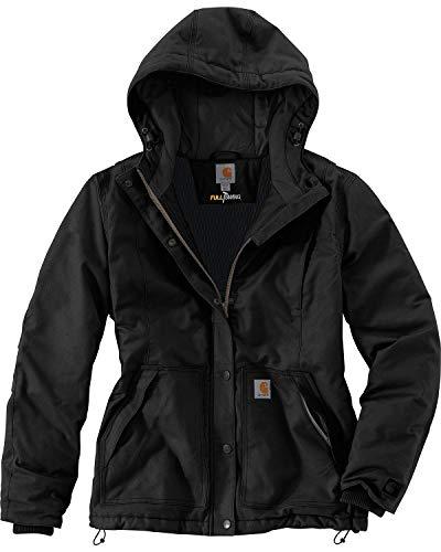 Carhartt Women's Full Swing Cryder Stretch Quick Duck Jacket, Black, L