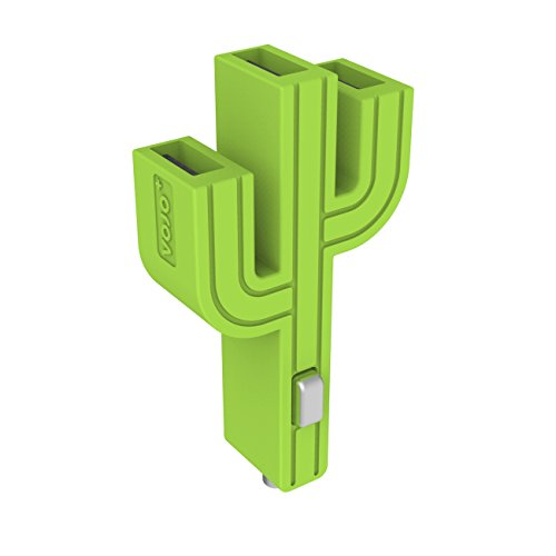 vojo-cactus-mini-5v-31a-universal-3-usb-port-car-charger-adapter-for-smartphones-green