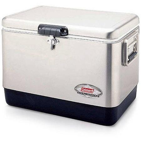 Coleman 54-Quart Steel Cooler Stainless Steel Lid and Cas...