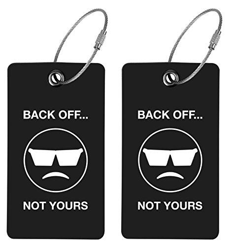 TUFFTAAG Emoji Luggage Tags for Business Cards - Customized