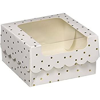 American Crafts Sweet Sugarbelle Single Cookie Box White with Gold Dots
