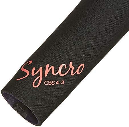 Roxy Womens Syncro 4//3mm Combinaison /à la Chest Zip glissi/ère Noir Gunmetal Couche de Chaleur chauffante superpos/ée Facile Extensible l/ég/ère