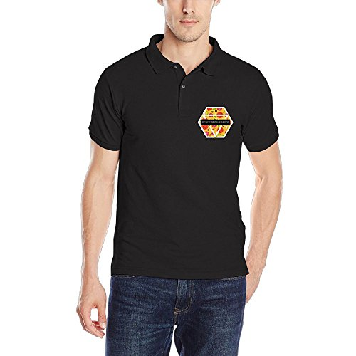 FFRD6G5 FFRD6G Don't Talk Drunk Girl Unless You Pizza Performance Fashion Mens' Short Sleeve Polo Golf - What Does Polo The Logo Mean