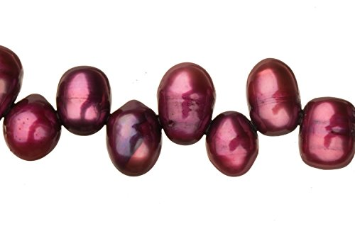 Purple Freshwater Cultured Pearls Natural Potato, B+ Graded, 7-8x9-10mm (Approx.), 15.5Inch Strings/63Pearls ()
