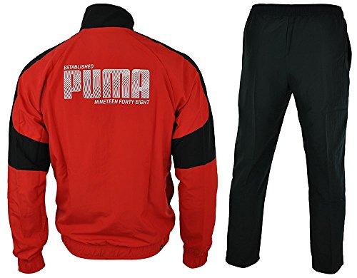Puma Herren Trainingsanzüge Mens Tracksuit Fun Graphic Woven Jog Suit Jacket/Pants Set Red/Black New 8365637