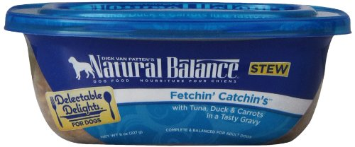 Natural Balance Delectable Delights Fetchin' Catchin'S Dog Stew, 8 Oz