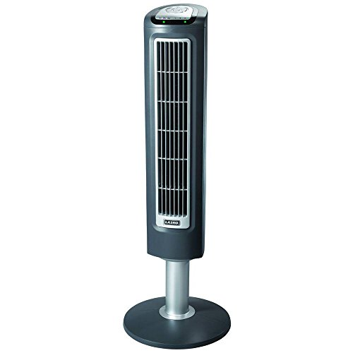 Lasko 3-Speed Wind Tower Fan with Remote Control, 38 inch, 2519