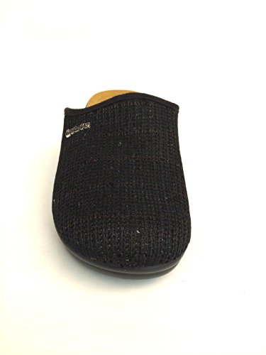 Inblu pantofola donna BJ-60 nero paillettes lustrini