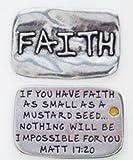 """Pewter Faith Pocket Token 13/16"""" x 1 1/4"""""""