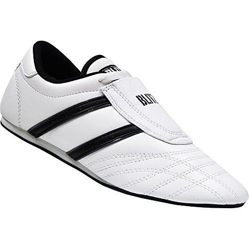 Zapatillas de deporte de lucha Universal/zapatillas de entrenamiento de cuero - Colour blanco/negro - blanco/negro