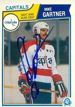 Autograph Warehouse 65127 Mike Gartner Autographed Hockey Card Washington  Capitals 1983 O-Pee-Chee 85eb8e899