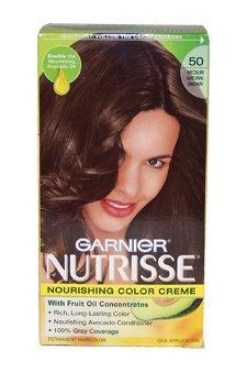 Nutrisse Crème Nourrissante Couleur # 50 Medium Natural Brown par Garnier pour unisexe - 1 Application Couleur des cheveux