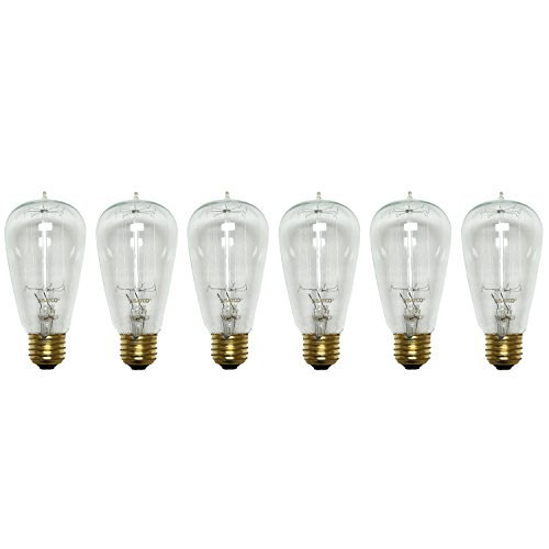 Satco S2413 40W 120V Cage Style Filament Vintage Style Incandescent Bulb, 6-Pack