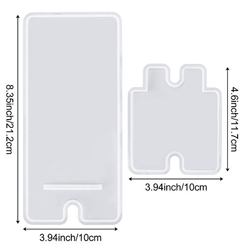 Phone Holder Resin Molds, Phone Stand Silicone Molds for Resin, Phone Case Resin Silicone Molds, Epoxy UV Resin Molds for DIY Craft Mobile Phone Bracket