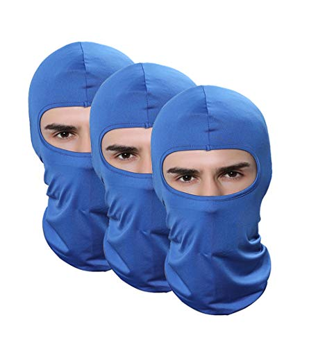 Pack of 3 Lycra Balaclava Outdoor Winter Hats For Men Running Fishing Airsoft Motorcycle Hat Paintball Mask