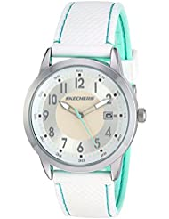 Skechers Womens Quartz Metal and Silicone Casual Watch, Color:White (Model: SR6102)